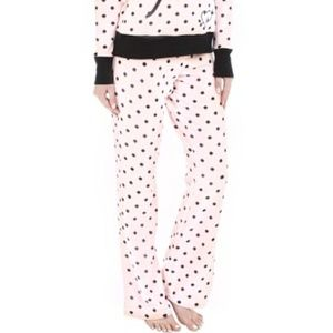 Betsey Johnson L, Fleece Polka Dot Pajama Pants